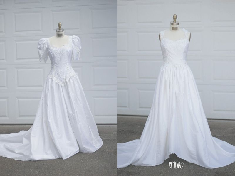 Remended Refashion 80s Wedding Dress I Might Need To Do This Depending