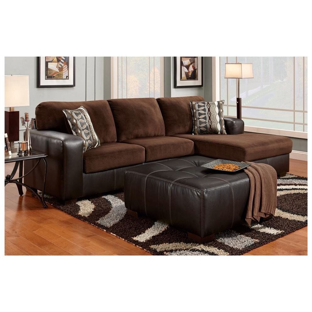 Brown Sofa with footstool | New apartment decor | Pinterest