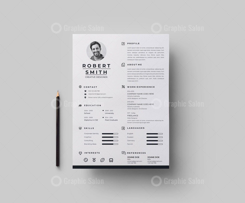 Pro Vector Resume Cv Design Graphic Templates Cv Design Resume Design Template Cv Design Template