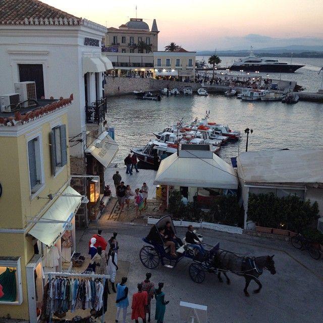 weekend breaks in Spetses Island (view from Alexandris Hotel balcony)