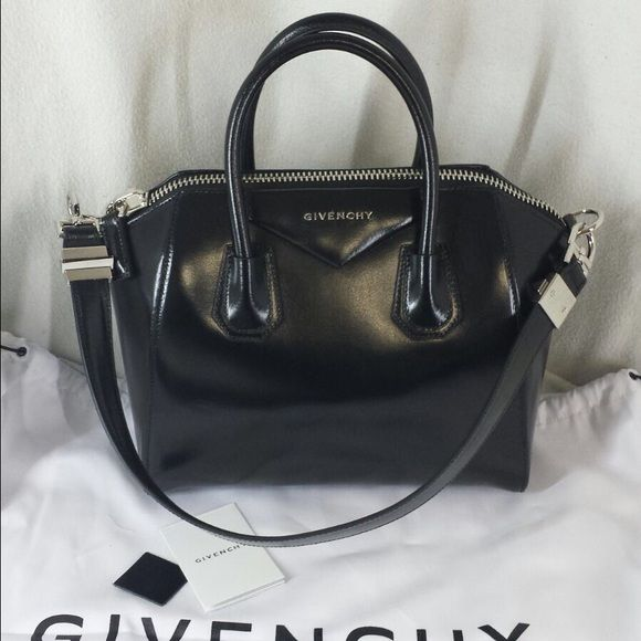 f8c7333be1 Givenchy Antigona small tote Givenchy black smooth box calfskin Antigona  small duffel bag. Brand New