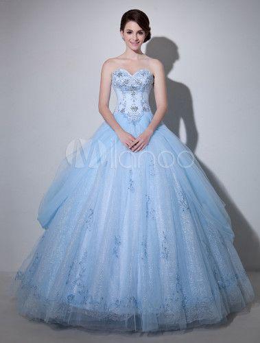 Vestido novia azul celeste