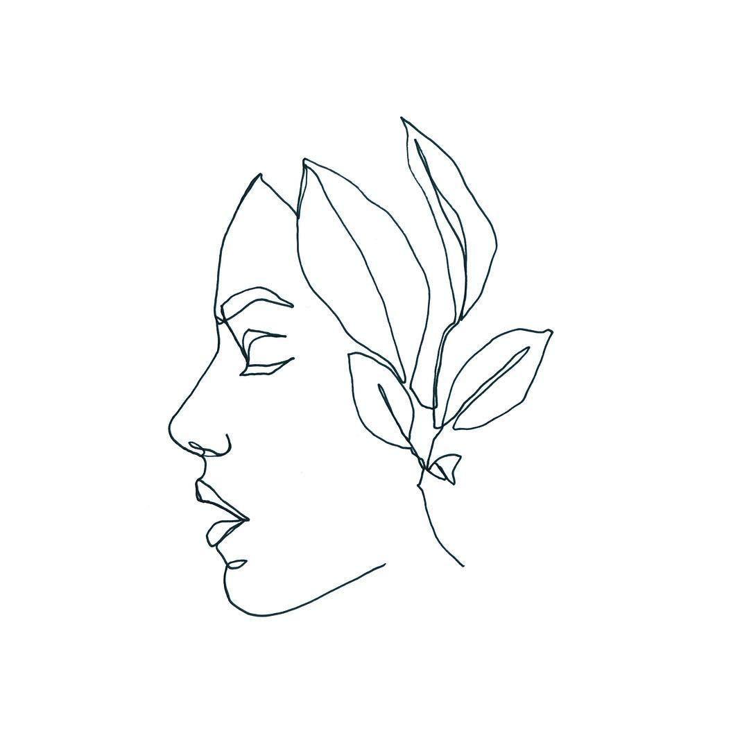 One Line Drawing Plant Portrait Onelinetattoo