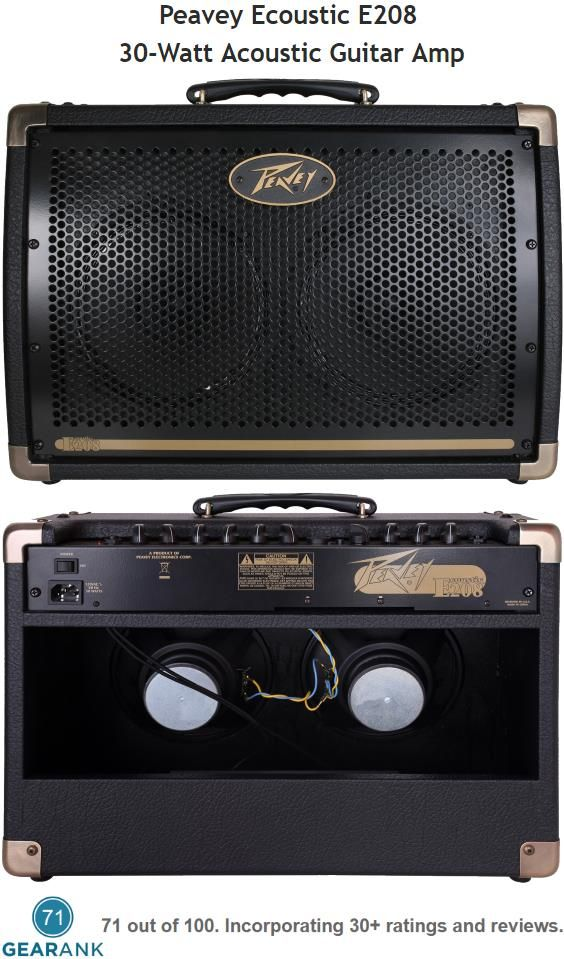 The Peavey Ecoustic E208 Is A 2 Channel Acoustic Guitar Amp With A Input On Channel 1 For Acoustic Guitar And A Combo Acoustic Guitar Amp Guitar Amp Peavey
