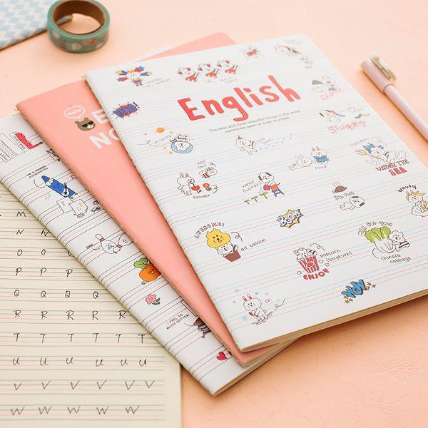 安安家 日韩文具 可爱卡通学生大号b5本子 英语练习本 创意单词本 Deco