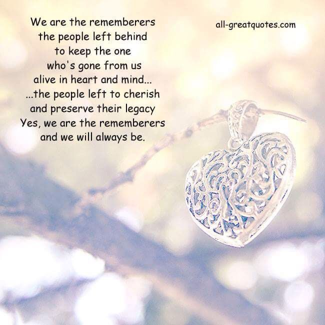 The Rememberers | A Mother's Grief | Grief poems, Loved one