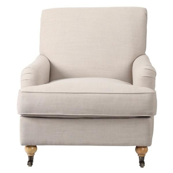 home decorators collection charles natural linen arm chair