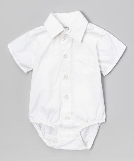 Littlest Prince Couture White Short Sleeve Button Up