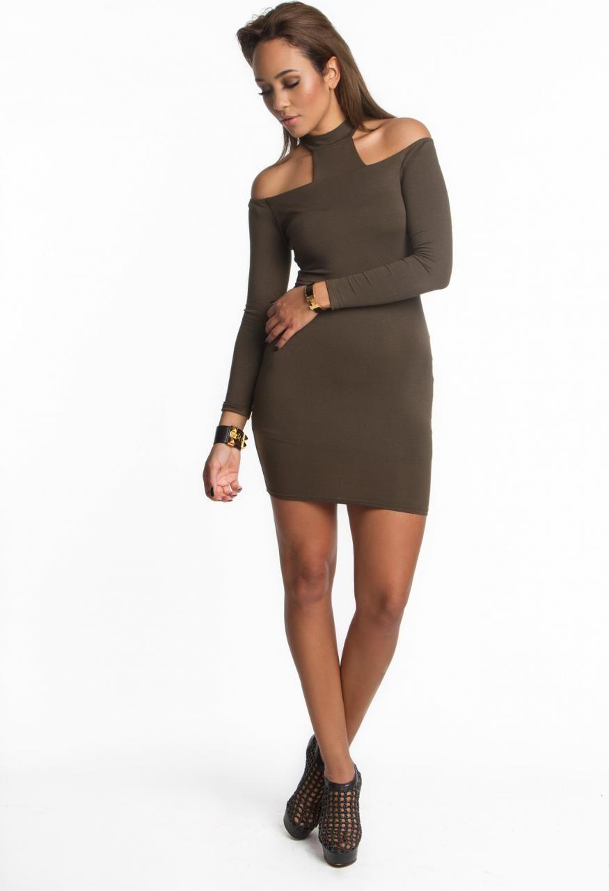 Mystylemode Olive T Neck Dress as seen on Kourtney Kardashian  d6e517d3f