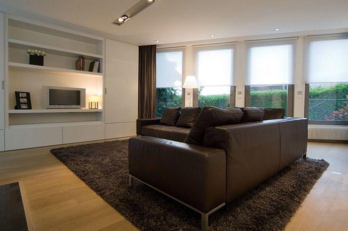 Villa moderne / Aménagement design / Salon / blanc / Parquet ...