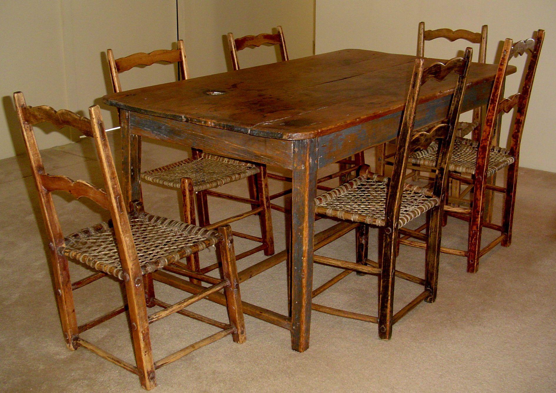 Primitive Kitchen Table Kitchen chairs for sale, Kitchen