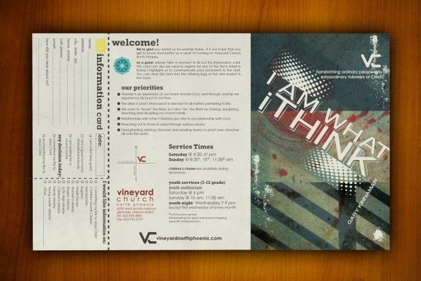 Church Bulletin On Behance  Bulletins    Churches