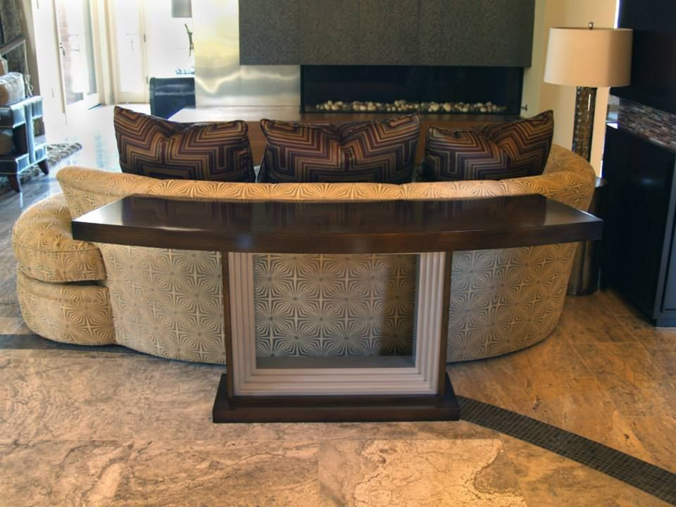 Custom Curved Sofa Table By Heather And