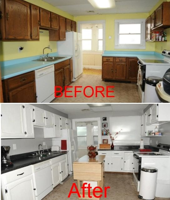 Best Kitchen Redone With Rust Oleum S Cabinet And Countertop 400 x 300