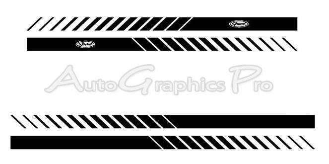 Dodge Magnum ROCKER STROBES Lower Rocker Stripes Vinyl Decal - Decal graphics inc