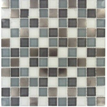 Diamond Cove 1 X 1 Glass Metal Blend Mosaic Tile Mosaic Tiles