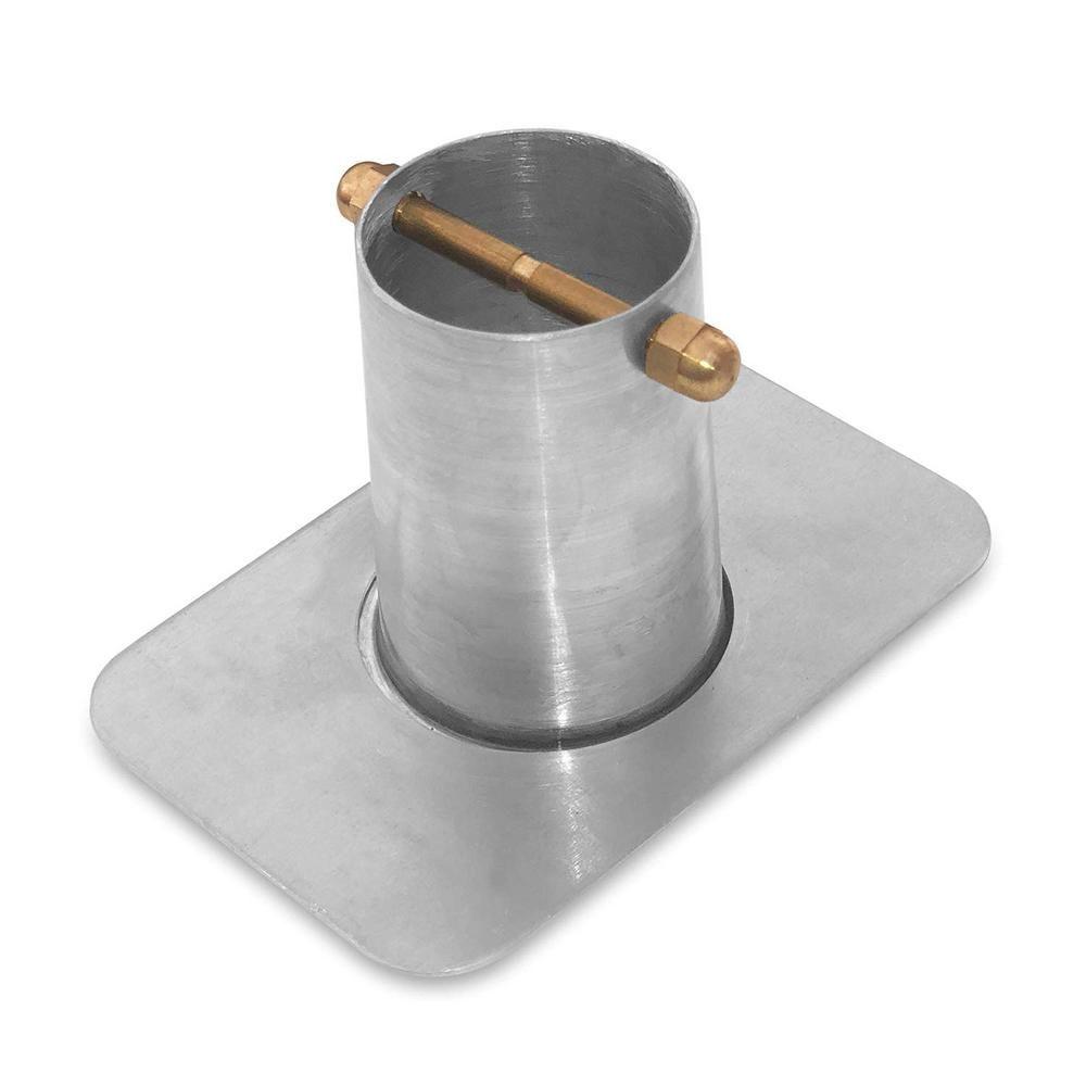 Monarch Rain Chains Monarch 2 Piece Aluminum Gutter Adapter With Brass Bolt Mill Finish For Rain Chain Installation Standard Gutters Gutter Colors