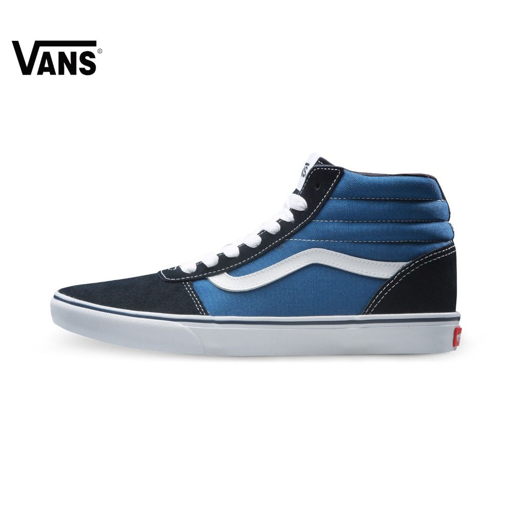c886bb65833 Original Vans New Arrival Black and Blue Color High-Top Men s Sneakers For  Men Skateboarding