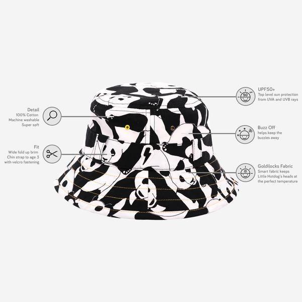 8fb802f22ed Little Hotdog Watson - The Adventurer Kids Bucket Hat.  kidshat  kidssunhat   kidssummerhat