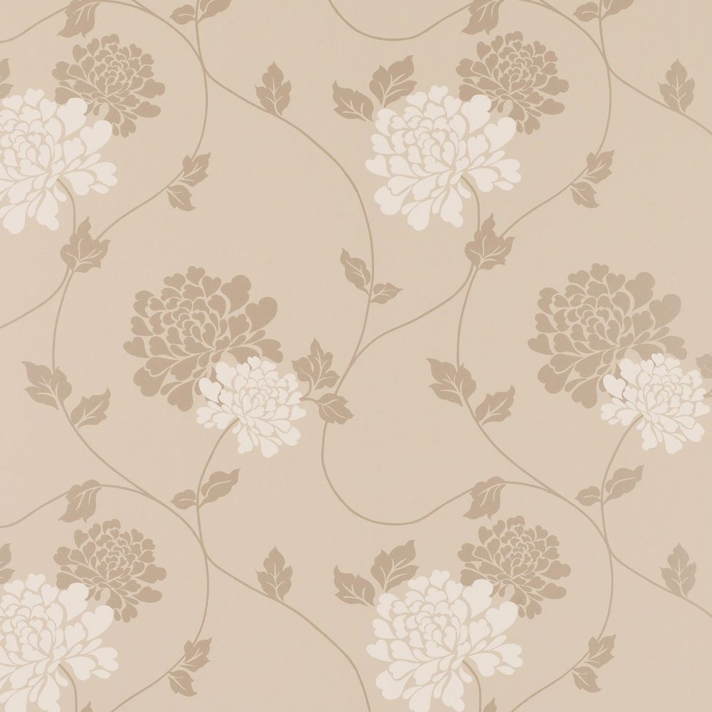 UNOPENED LAURA ASHLEY WALLPAPER 2 ROLLS OF ISODORE TRUFFLE STRAIGHT MATCH BATCH NUMBER X3a