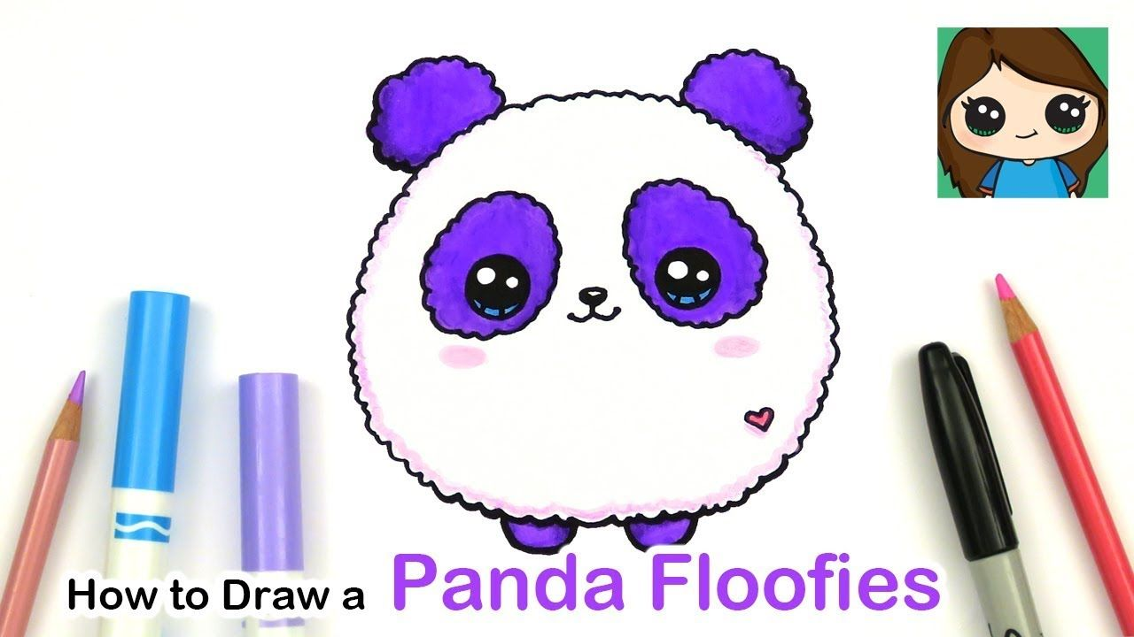 How To Draw A Baby Panda Easy Floofies Fluffy Youtube Cute Little Drawings Cute Drawings Kawaii Drawings