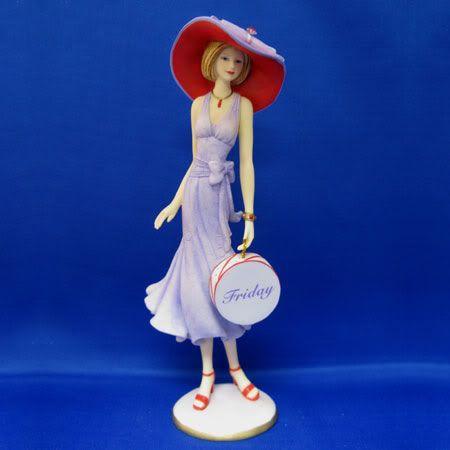 Thomas Kinkade Ladies & Angels | Details about Bradford Lady Figurine-Frida y Hats of the Week