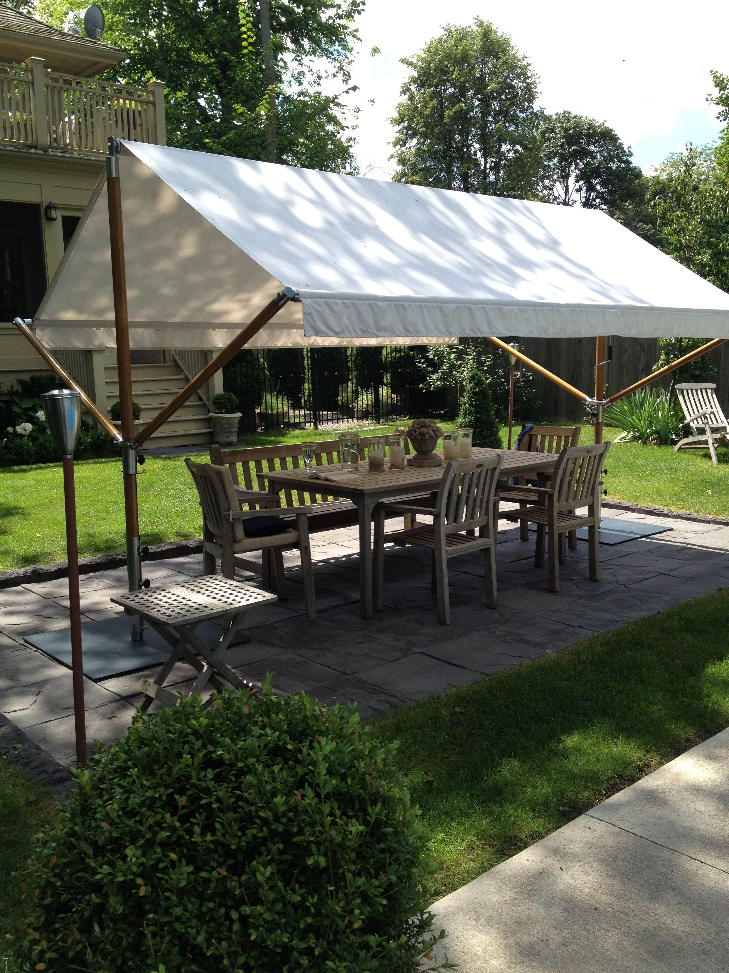 Freestanding Awning Outside Pinterest Patio Porch And Pergola