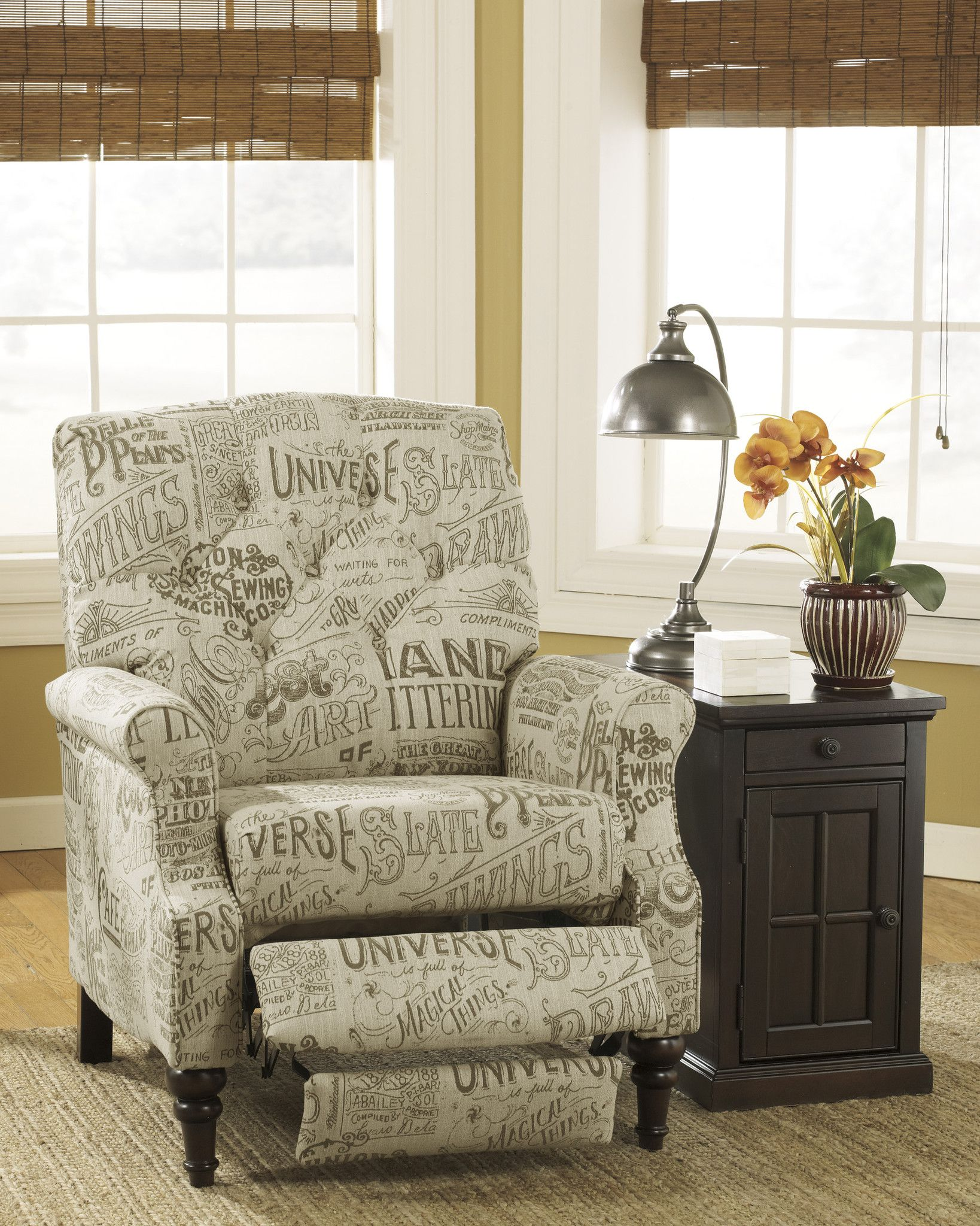 Ashley Furniture Recliner Chairs Stahlworth High Leg Recliner In 2019 Chairs Furniture