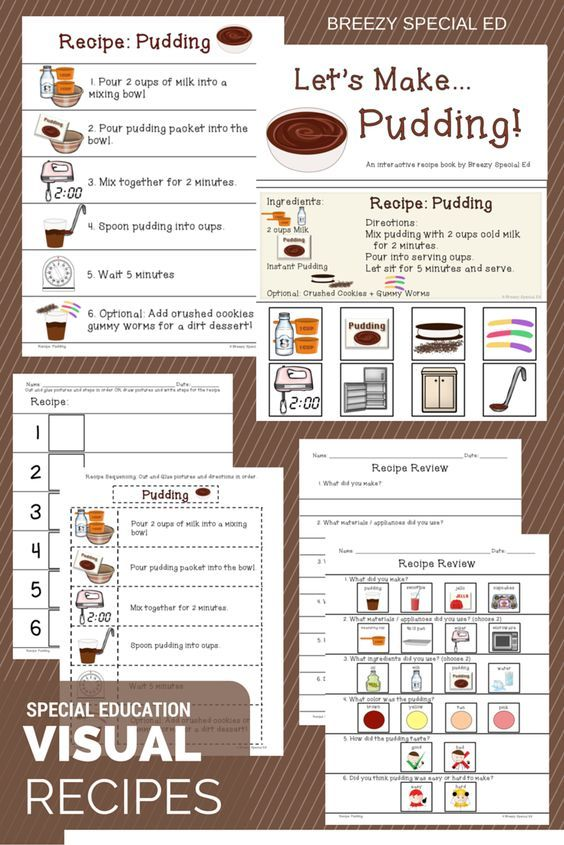 Interactive Cooking Lessons Visual Recipes For Pudding And Jello