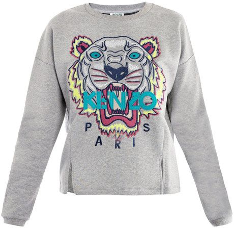 0ee9e43b Kenzo Tiger Embroidered Sweater in Multicolor (tiger) - Lyst ...