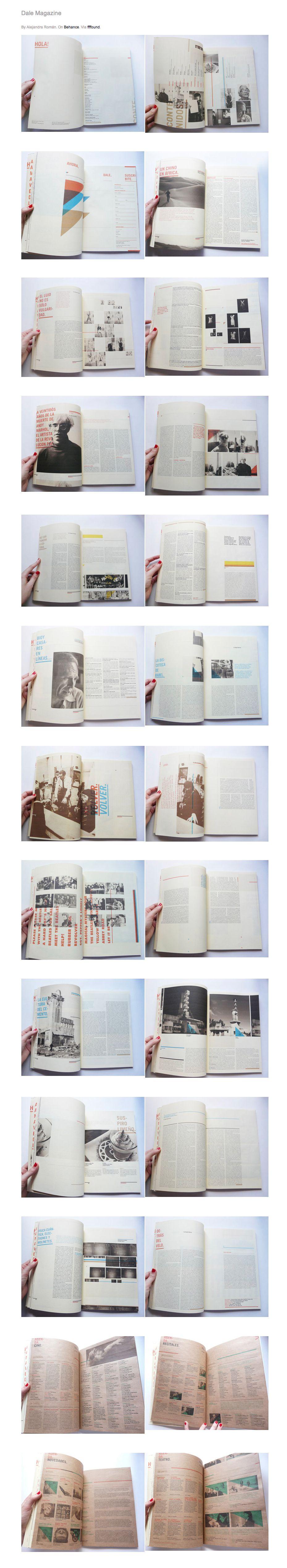 Dale Magazine | Gridness #magazine #editorial #design #graphic #design #pikock www.pikock.com #inspiration #book