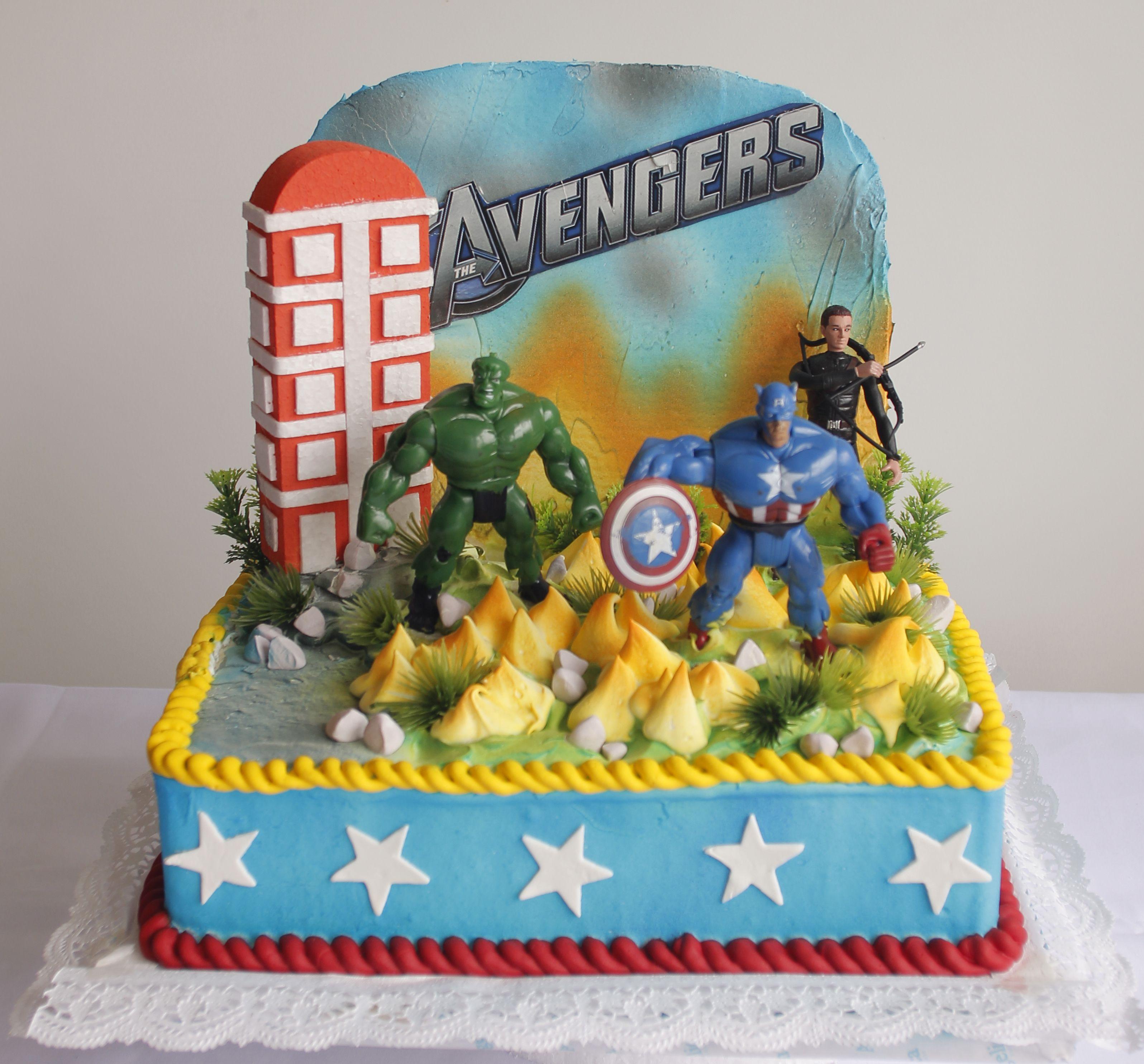The Avenger big toys Angelica Bakeshop Cebu KIDS Cake with Toy