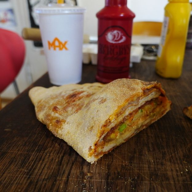 Vegan Burger and Fries Stuffed inside a Pizza Calzone | Community Post: 10 Vegan Dishes That Will Have You Questioning Your Beliefs In Animal Products