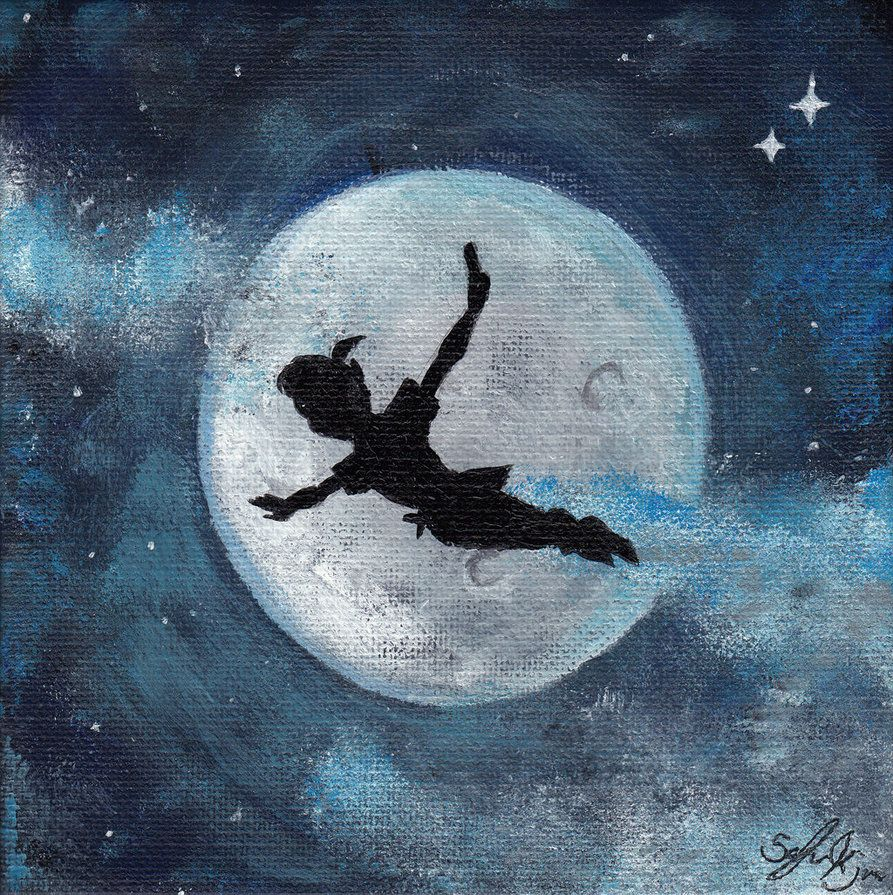 Peter Pan Painting By Zzoffer On Deviantart Disney Paintings