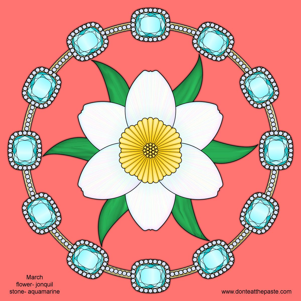 Don\'t Eat the Paste: March Birthstone and Flower Mandala | The Body ...