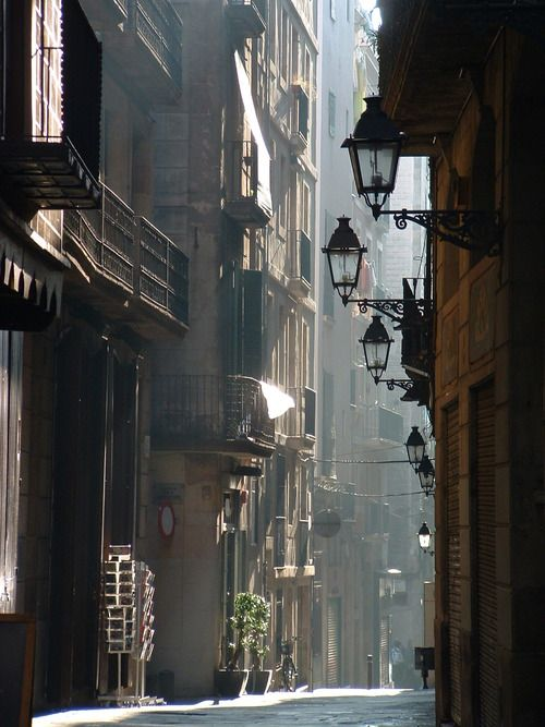 Lanterns, Barcelona, Spain   photo via supersecretninjamoves
