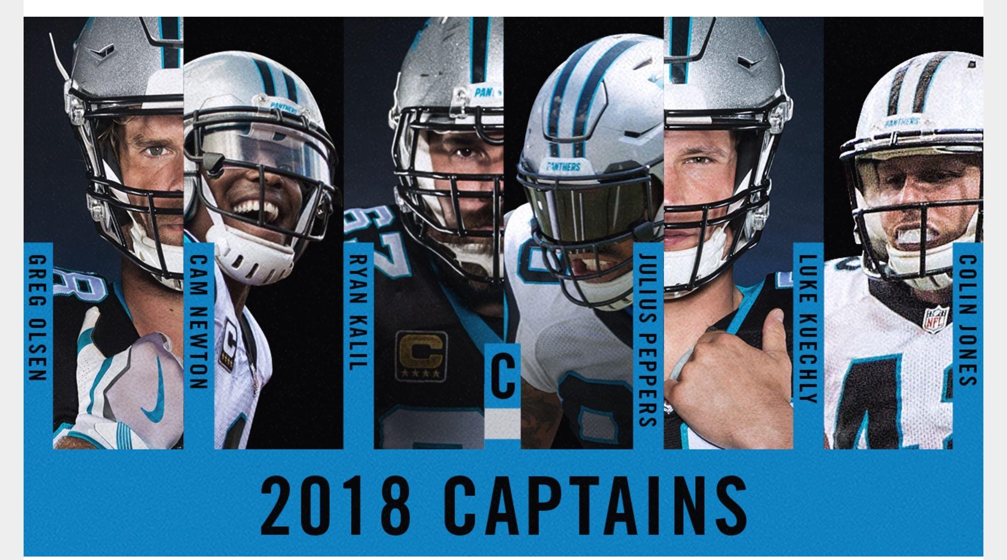1205c9f8 Carolina Panthers 2018 Captains | #keeppounding ...PANTHERS ...