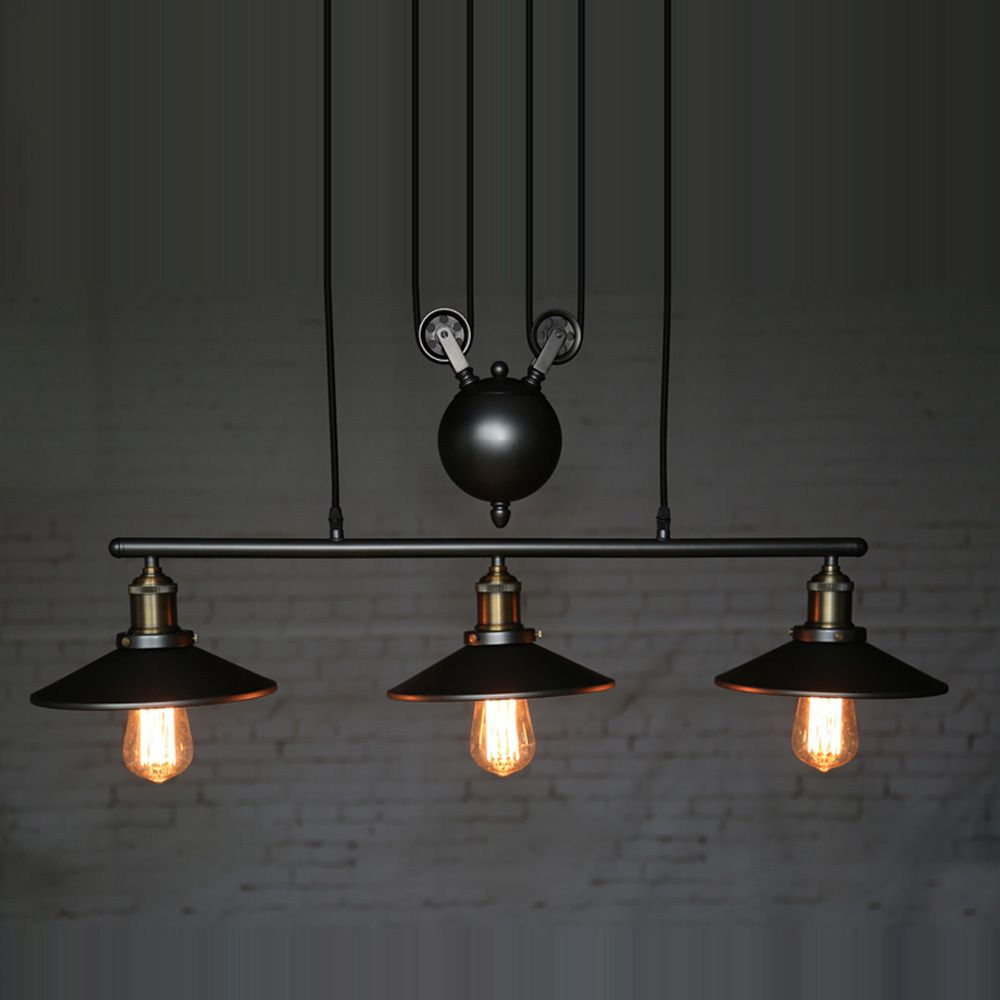 cheap vintage lighting. Cheap Lighting Dining Room, Buy Quality Design Room Directly From China Suppliers: Industrial Country Creative Pulley Black Iron Vintage R