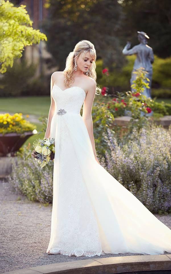 Cute essense of australia wedding dress bridal strapless sweetheart neckline vintage over skirt a line gown Essense of Australia Wedding Dresses