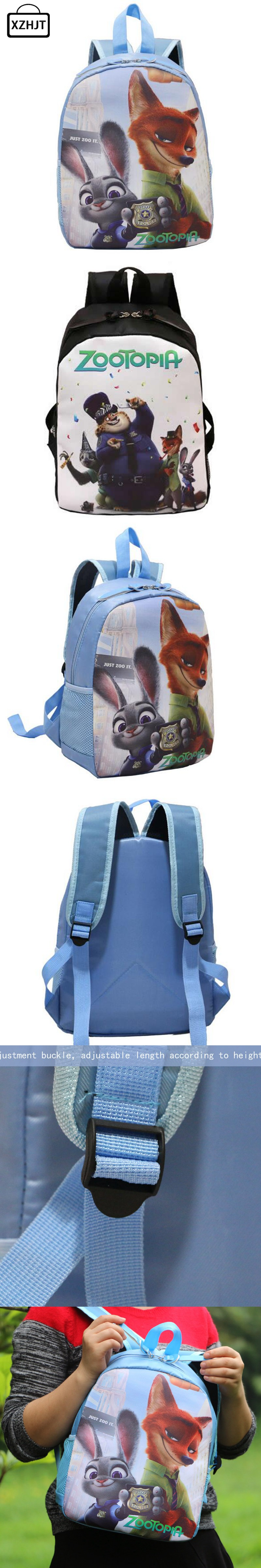 Hot Sale Cartoon Kids Zootopia School Bags Cute Animation ...