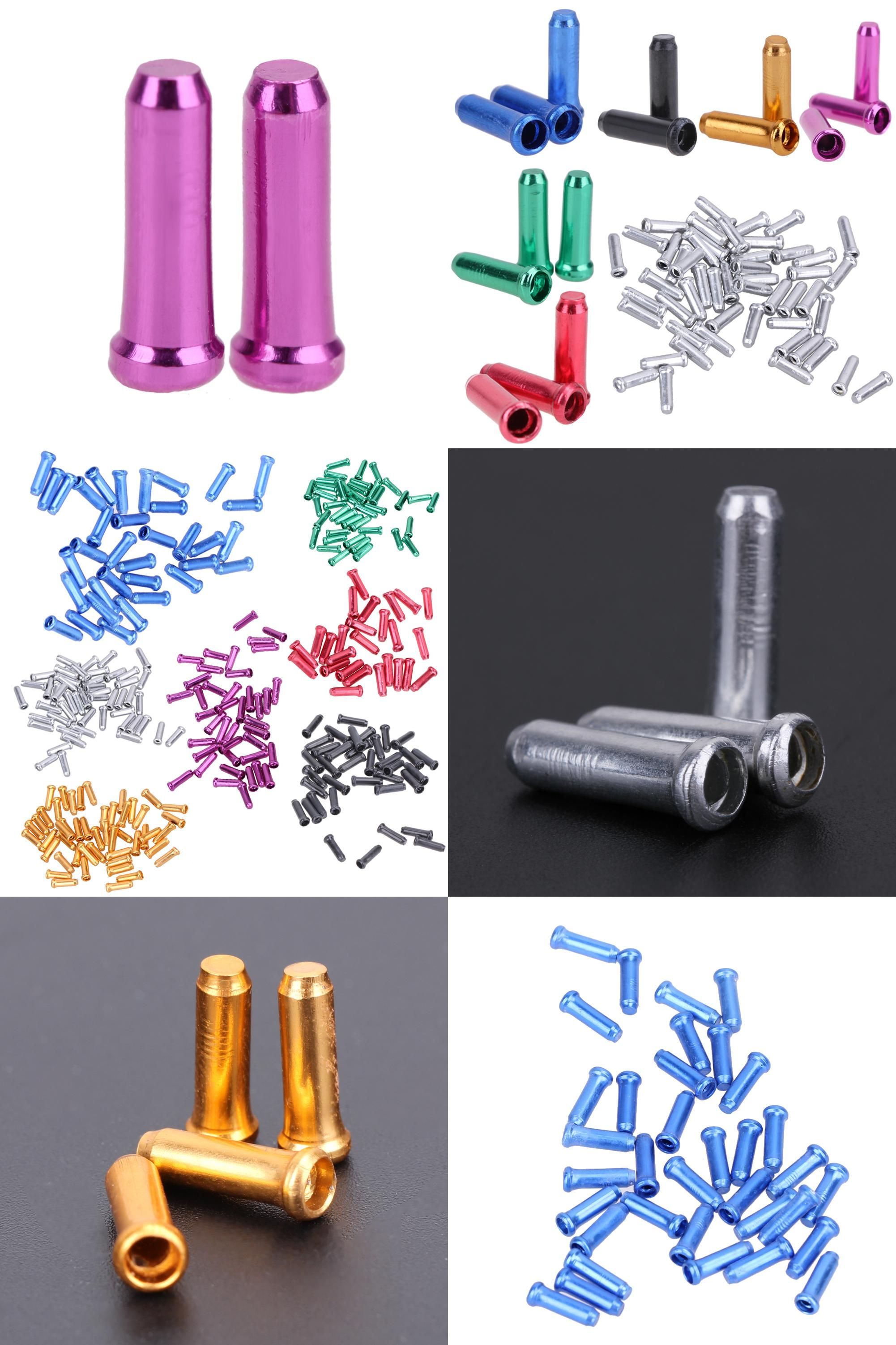 50Pcs Bike Bicycle Brake Shifter Inner Cable Tips Aluminum Alloy End Caps Tips