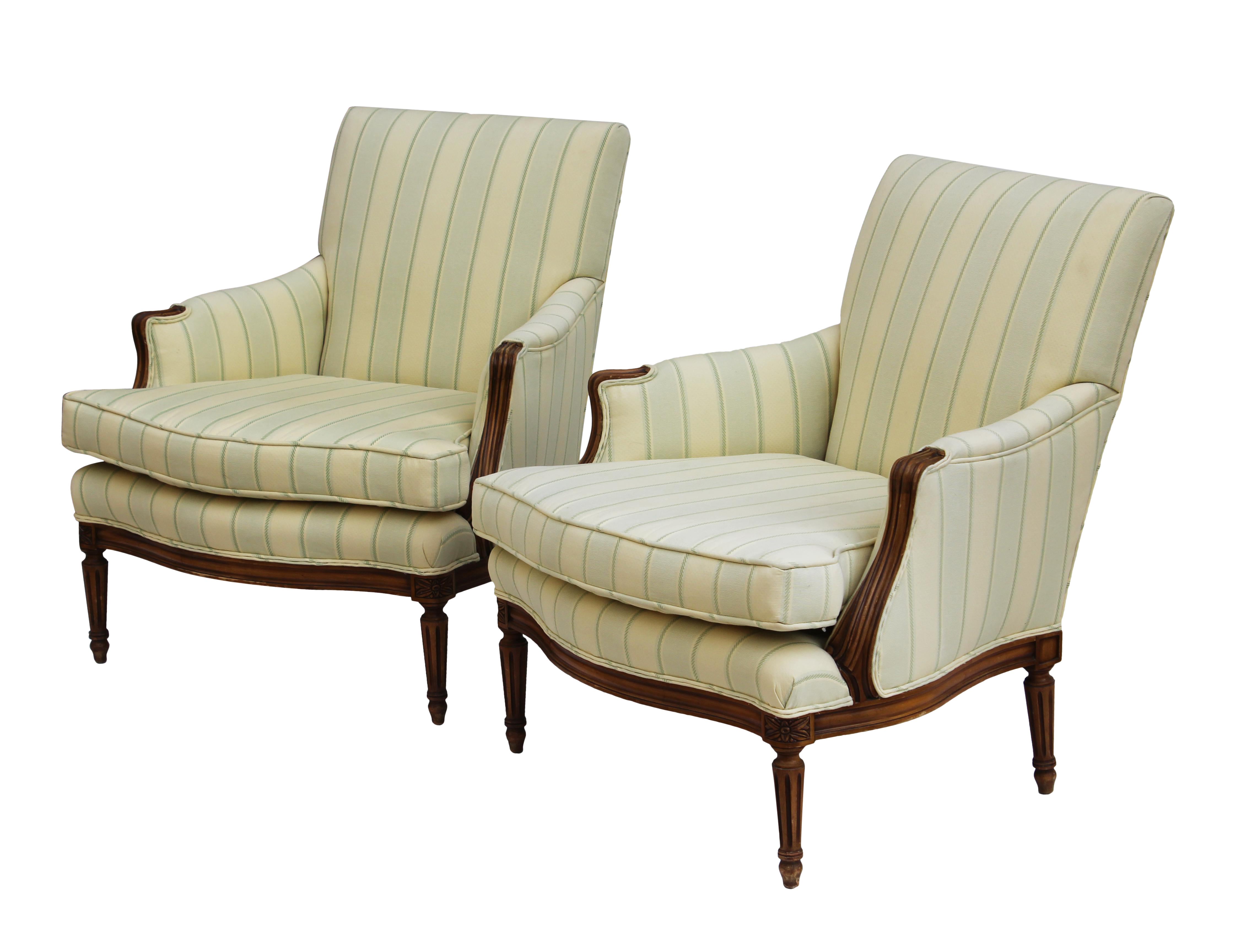Kindel French Style Armchairs - A Pair   French style and Armchairs