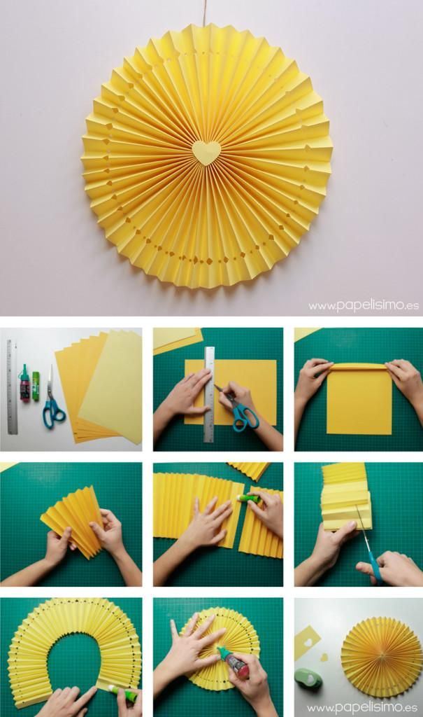 C mo hacer rosetas o medallones de papel para decorar tus - Como hacer manualidades de papel ...