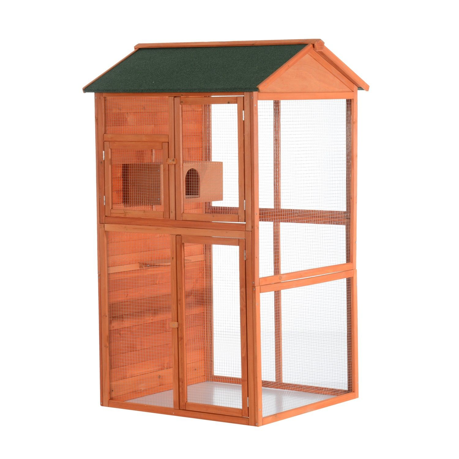 Pawhut 71 Large Vertical Outdoor Aviary Bird Cage  Golden