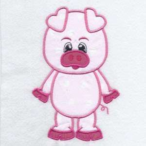 Free Embroidery Design: Pig | Free Embroidery Designs