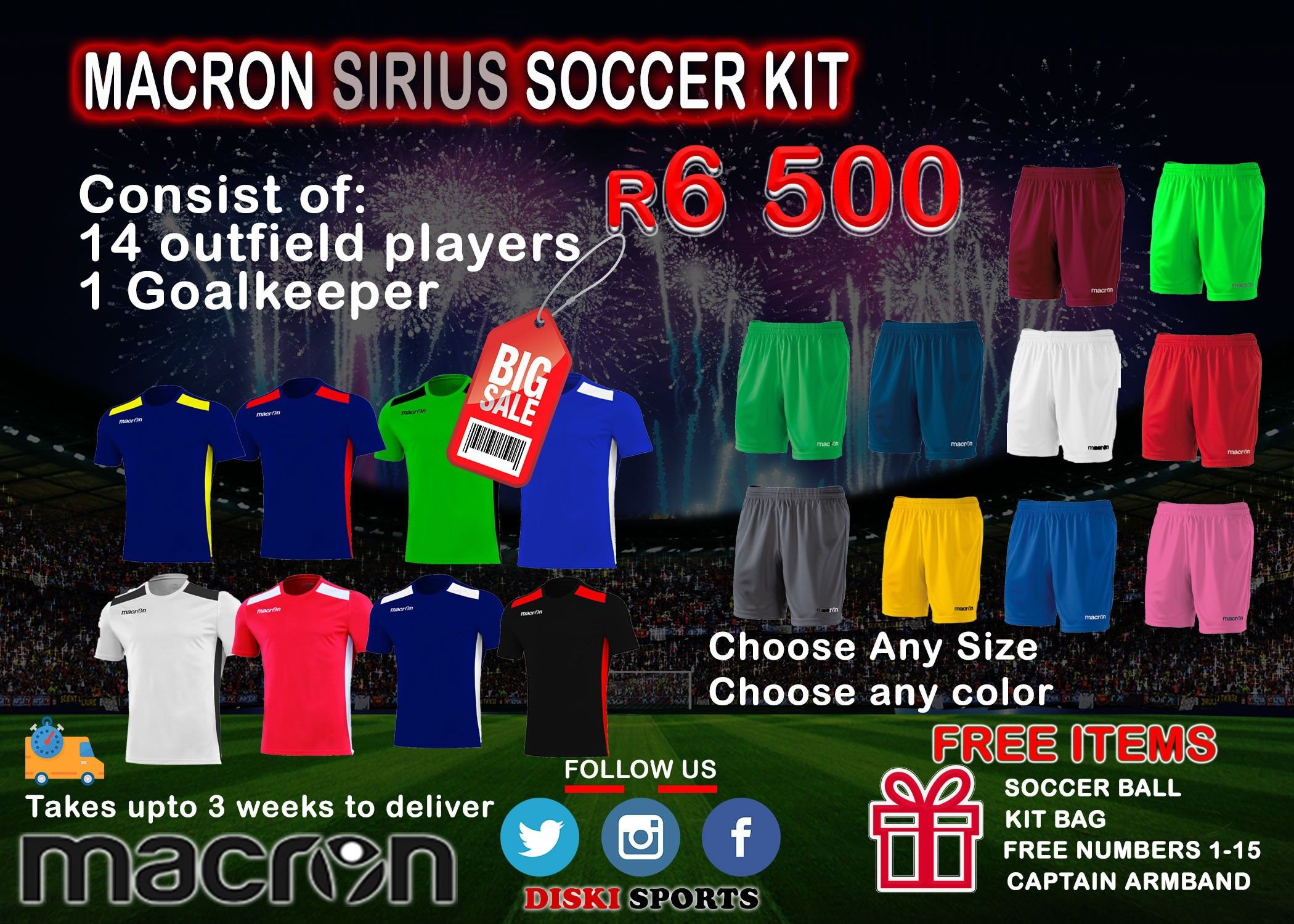 Buy Macron Soccer Kit At Diski Sports Www Diskisports Co Za Soccer Kits Soccer Football Kits