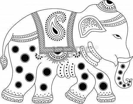Stock Vector  Indian elephant, Indian elephant art, Elephant