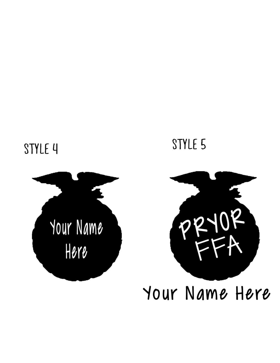 Personalized Chapter State Ffa Emblem Decals Stickers By