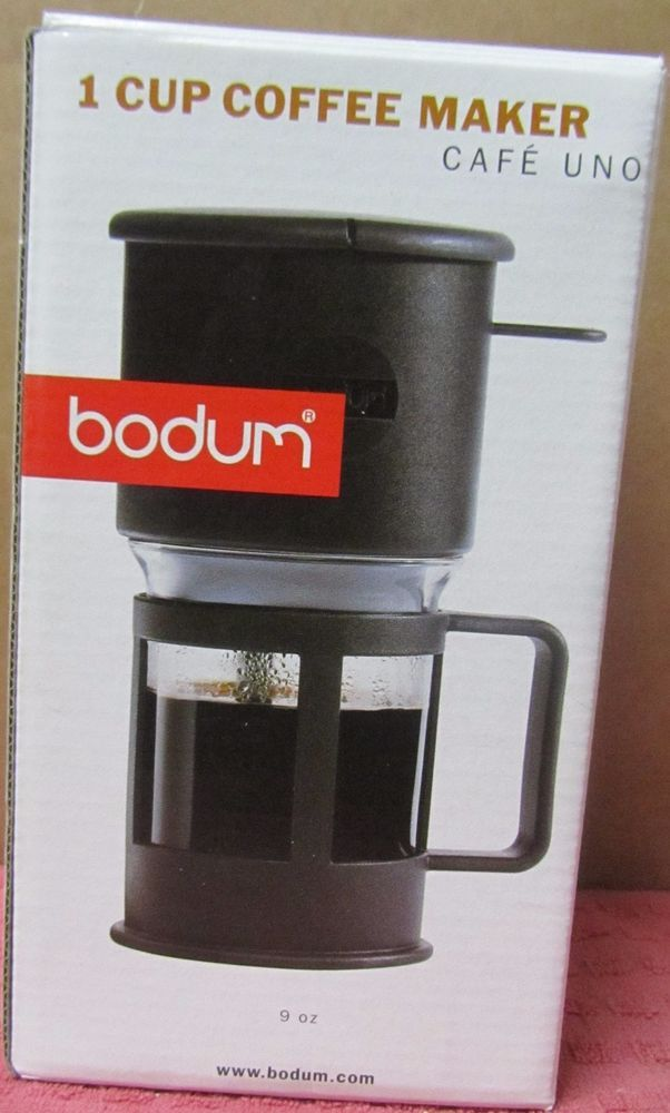 Bodum 1 Cup Coffee Tea Maker Cafe Uno Pour Over Travel Single Gl Press