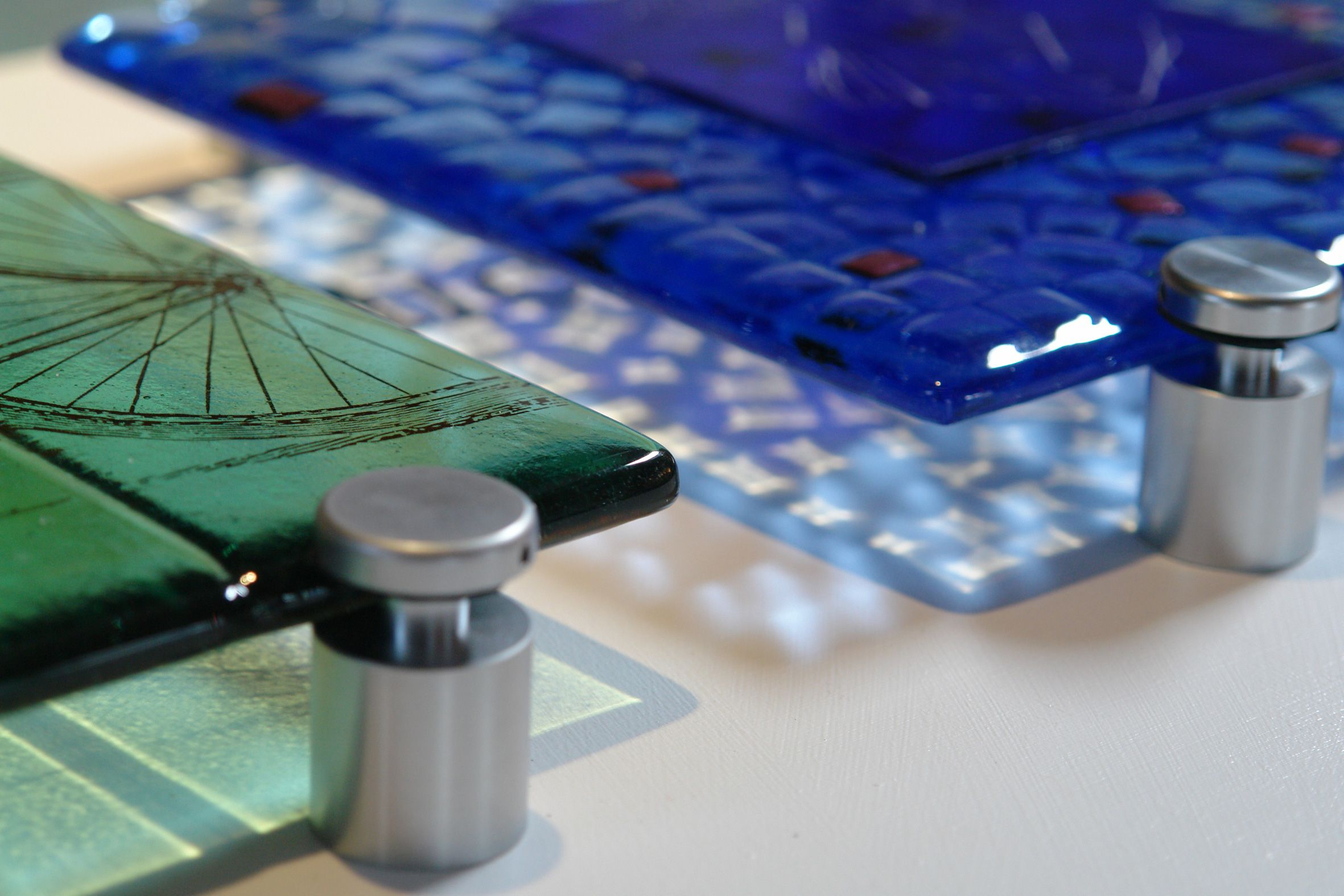 Detail Of Some Fused Glass Samples I Love The Coloured